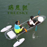 fishing ;sea,peddle kayak for hot sale; 2 person useful assembly;made by polycarbonate