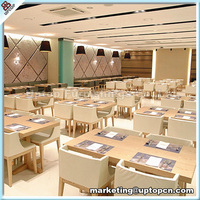 (SP-CS105) wooden furniture Korean restaurant table and 4 chairs