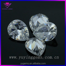 pear fancy cut cubic zirconia for wax white clear synthetic gems