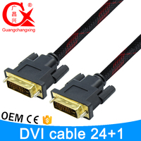 2016 hot selling gold connector custom length extend dvi to dvi cable