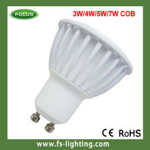 High Lumen GU10/MR16 COB 5W 4wd led spotlight with gift box