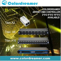 Professional 2 4 8 16 universes rgb led dmx 512 controller for lighting control