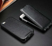 mobile phones leather case for iphone 5 , telephone cover for iphone5 , Snake flip leather case for iphone5