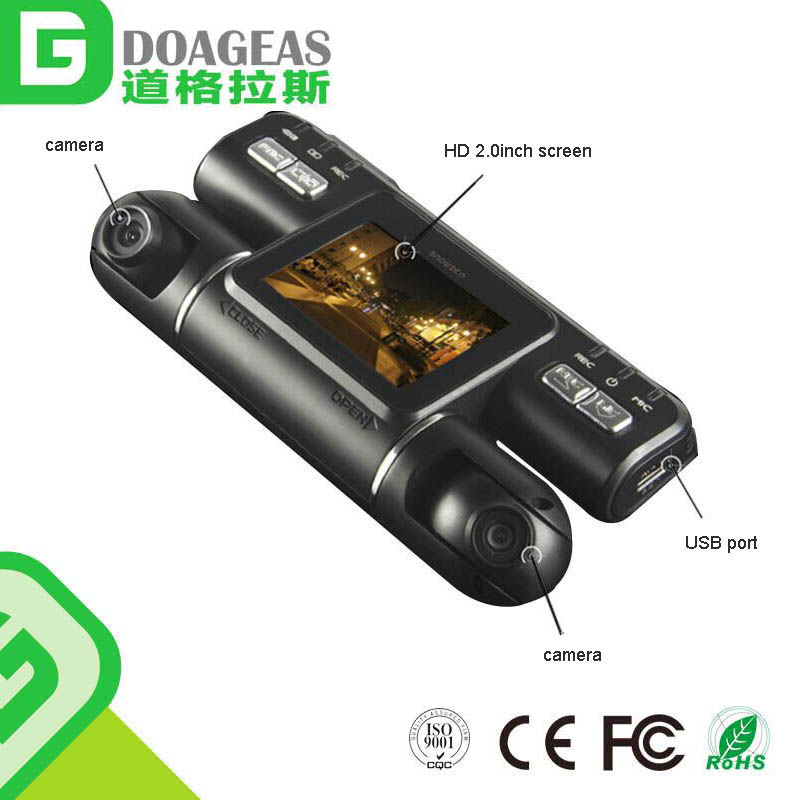 Dual lens sensor full 1080p hd night owl camera system gtpl set top box mini dv camera for cars