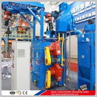 Q3720 hanger type abrasive sand blasting machine/shot blast equipment