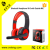 Cheap Mobile Accessories Wireless Headphone with Outside MIC Free Sample