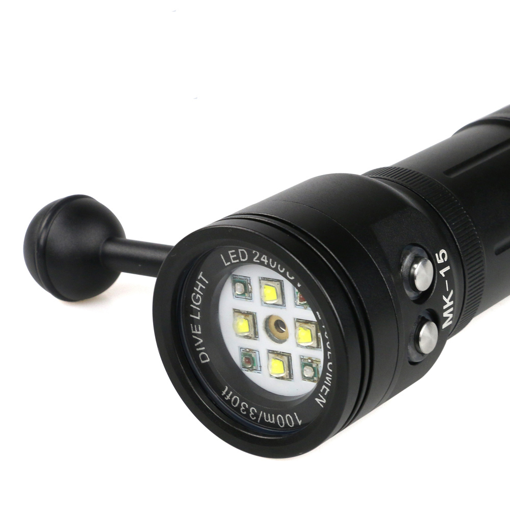 Hot Selling Portable Battery Mini Led Diving Flashlight, Waterproof Led Flashlight, Three Modes Strong Flashlight Torch