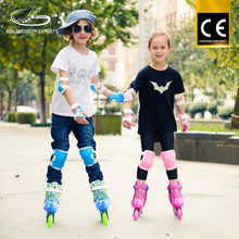 CE Certificate Right Brake Fixed Buckle Pink Blue Roller Skates For Sport