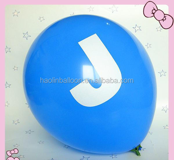 Customized words printed latex balloons