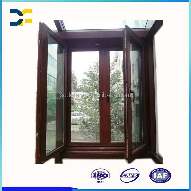 Aluminum Frame Composite American Oak Wood Window