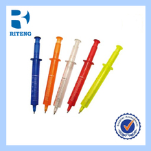 2014 promotional item cheap injector shape wholesale brands ballpoint pen