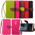 Case for Huawei Mate S , Hot Selling High Quality PU Leather Flip Cover Wallet Case for Huawei Mate S with Hand Strap