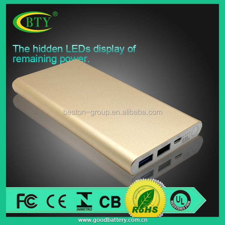 2015 Hot sale new products portable power bank 12000mah high quality low price li-ion battery cells power bank