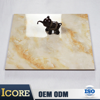 Alibaba Industrial Kitchen Marble Look Glazed Ceremic Floor Tiles For Africa