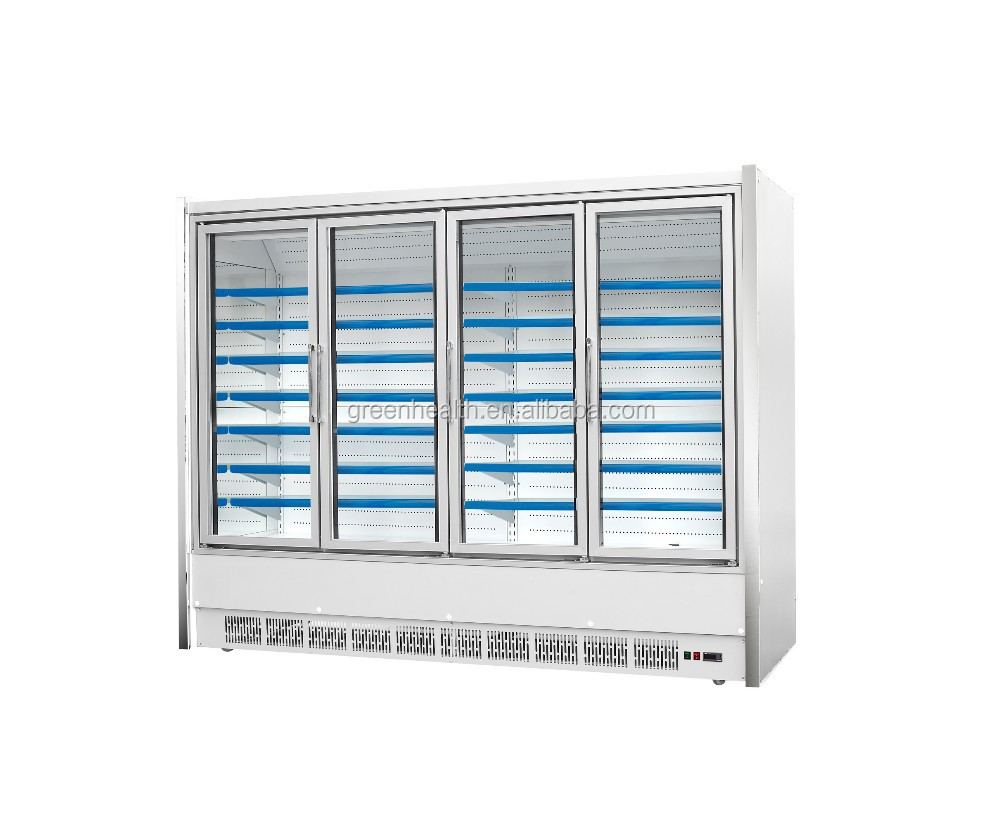 upright open front supermarket chiller/refrigeration equipment/display cooler showcase, Plug-in Low Front Multideck