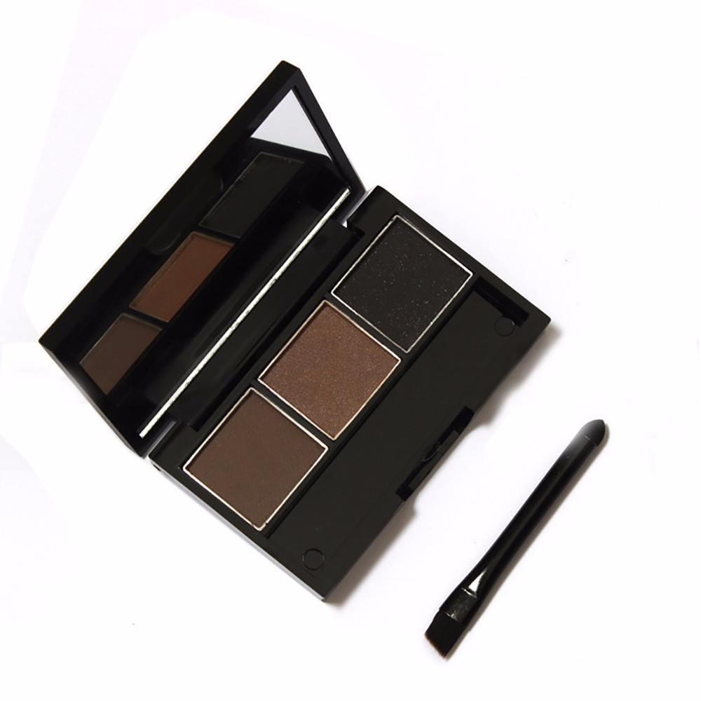 cosmetics import china small factory idea high pigmented 3colors cool eyeshadow