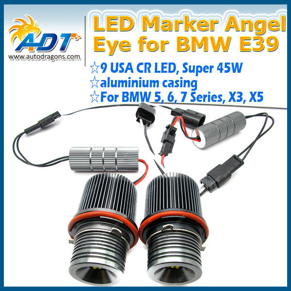 auto led headlight E39 Canbus with USA CR LED angel eye 90W car accessories original factory price for BMW X3 X5 5/6/7 series