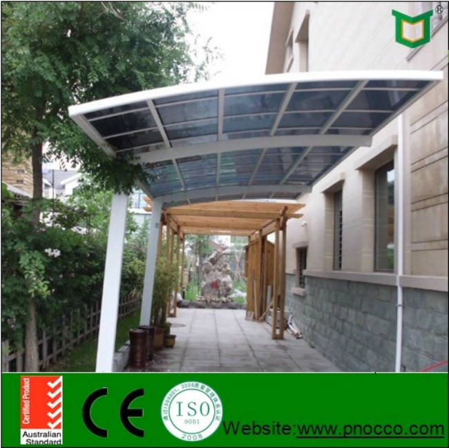 Japan High Snow Load Aluminum Flat Roof Carport With Polycarbonate Sheet