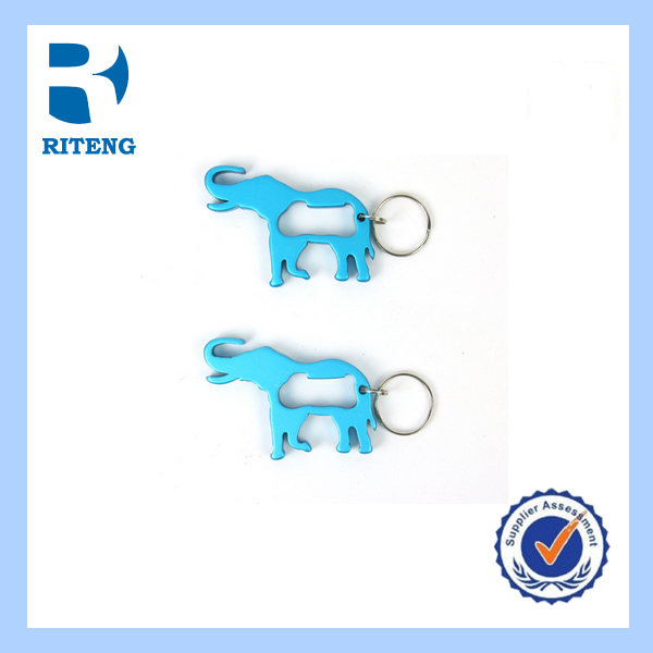 Promotional gifts beer aluminum bottle opener keychain can opener