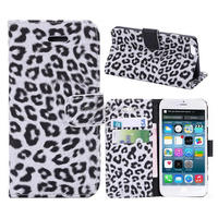 Made In China Smart Cell Phone Case Leopard Wallet PU Leather Flip Cover Case for iphone6 Case Shell