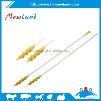 2015 new type disposable foam tip Spiral catheter for pig farm