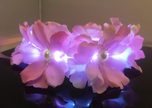 Big pink flower led tiara