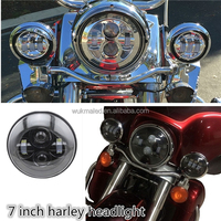 "China Factory 7"" DOT headlights Harley Parts 4"" 5 3/4"" Headlamp Available, Round headlight for Harleydavidson Motorcycle Part"