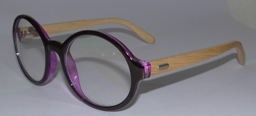 fashion acetate+wood combined optical glasses frame
