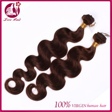 Aliexpress brown color Chinese human hair weft,body wave Chinese aliexpress human hair weaving Wholesale cheap price
