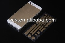 New Champagne Gold Skin Sticker protector wrap cover for iPhone 5/5S NOT CASE
