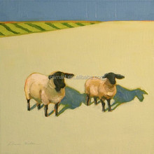 Walking in the desert the two goats handmade classic decoration oil painting in canvas