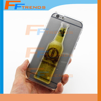 For iPhone 5 5S 5C 6 4.7 Plus 5.5 6S Beer Bottle Rubber Soft TPU Silicone Phone Case Cover