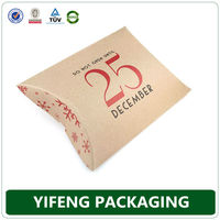 Recycled Corrugated Paper Printed Antique Chinese Cheap Gift Kraft Pillow Boxes