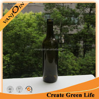 China Supplier 750ml Dark Green Bordeaux Wine Glass Bottle With Screw Top