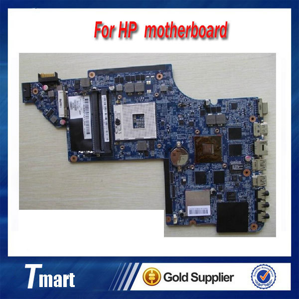 for hp parviion DV6 DV6-6000 665341-001 laptop motherboard HM65 for intel cpu with 2GB amd HD 7690M and Intel GMA HD 3000 card
