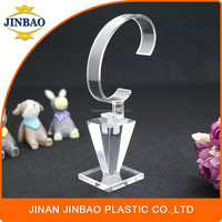 JINBAO popular c-clip acrylic pocket watch display stand for exhibition