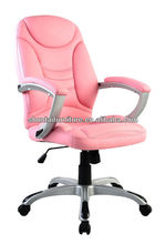 heated luxury swivel tilt mechanism pink leather executive office chair