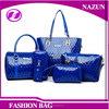 Wholesale new product pu leather lady handbag bag purses women set bag 5pcs dubai handbags