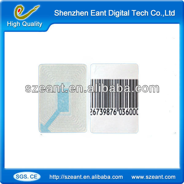 EAS sticker anti theft barcode labels rf 3X4 CM security soft tag