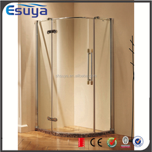Bathroom new design 6mm--10mm round stainless steel tempered glass shower stall/diamond shower box/shower enclosure