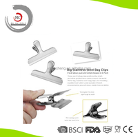 Dual function stainless steel bag clip food sealing clip HC-SBC1