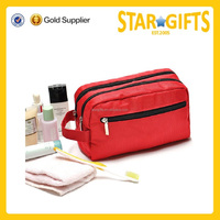 Wholesale Durable travel makeup carry tote plain polyester mens toiletry bag