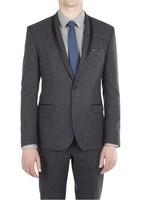 Mens Tweed Dinner Jacket Suit with Satin Lapel