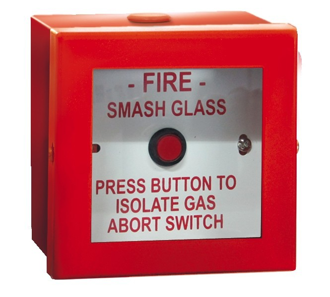 Metal Red Push Button Abort Break glass!
