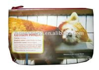 promotional animal canvas pencil pouch