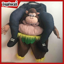 NEW STYLE CARRY ME ADULT RIDE ON MONKEY MASCOT COSTUME