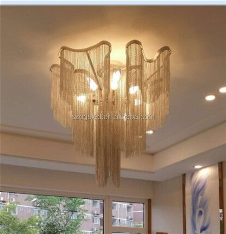 OGS-CL39 European style new products chain mail chandelier