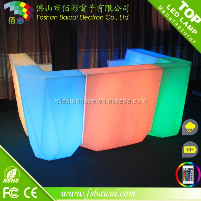 led bar counter/outdoor funiture/table led bar counter led lighted table and chair
