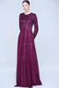 Long sleeve sequin beaded designer one piece party dress fancy tulle women evening prom gown