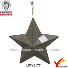 Star antique hanging decorative metal stars